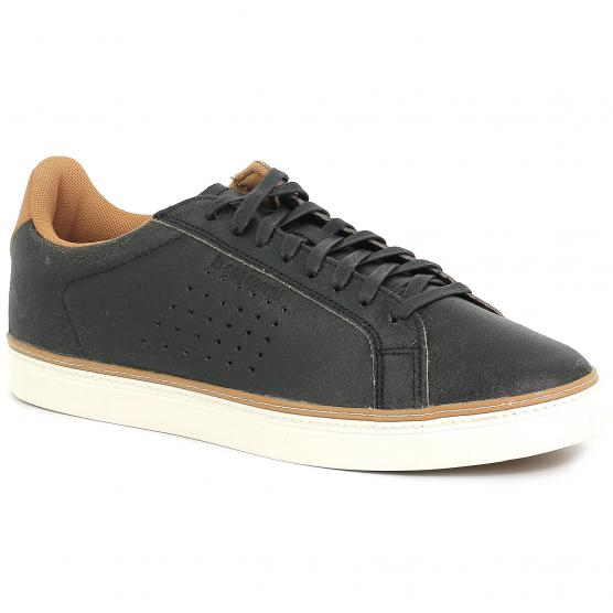 LE COQ SPORTIF COURTRACE PREMIUM BLACK/BROWN SUGAR