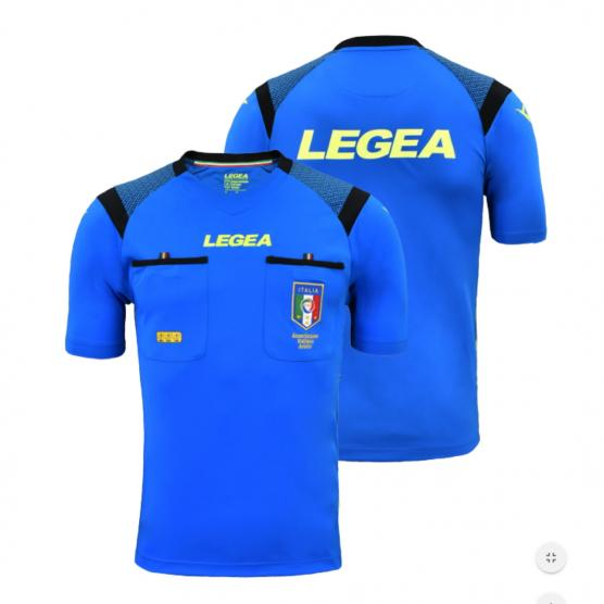 LEGEA SHIRT REFEREE AIA RACE MC LIGHT-BLUE