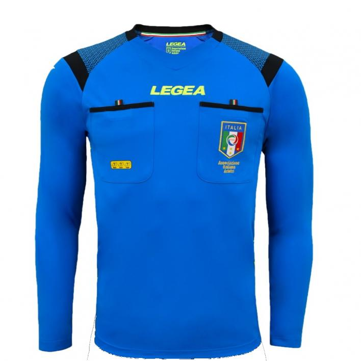 LEGEA SHIRT REFEREE AIA RACE ML LIGHT BLUE