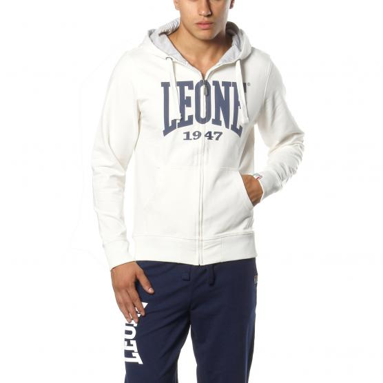 LEONE MAN FLEECE HOODY ZIPPED