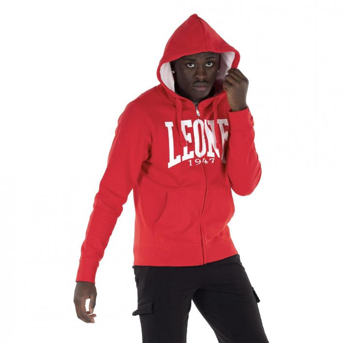 LEONE MAN HOODY FULL ZIP BASIC