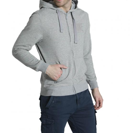 LEONE MAN HOODY FULL ZIP HIDDEN