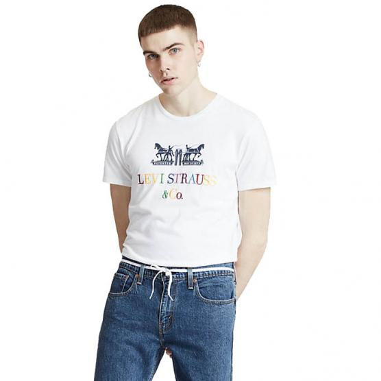 LEVI'S 2-HORSE GRAPHIC TEE 90S LOGO TEXT 2H