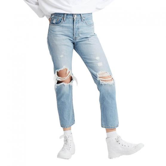 LEVI'S 501 CROP MONTGOMERY PATCHED L.26