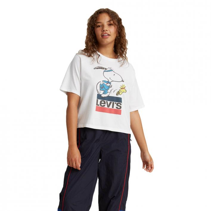 LEVI'S GRAPHIC BOXY TEE SNOOPY TORCH RUNNER