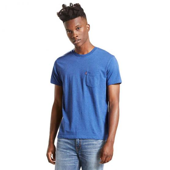 LEVI'S SS SET-IN SUNSET POCKET SATURATED INDIIG