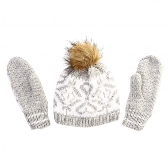 LUHTA WM KNIT BEANIE & MITTENS SET AIRIS