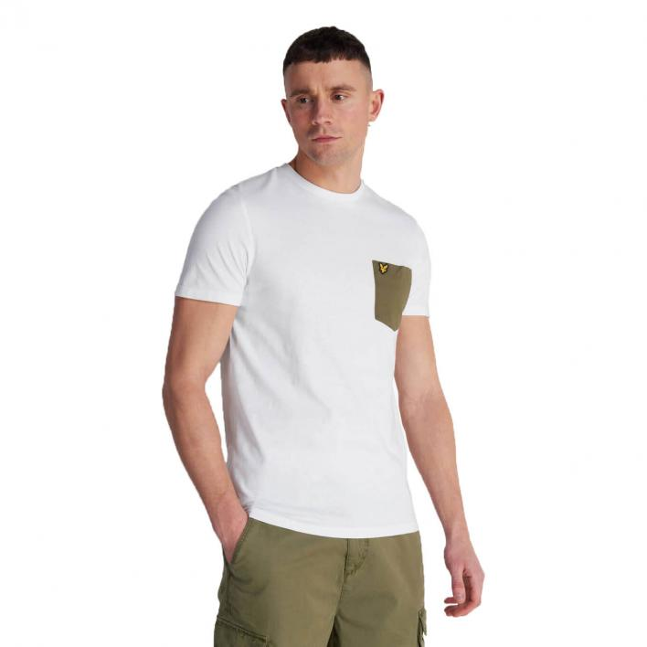LYLE&SCOTT CONTAST POCKET T-SHIRT