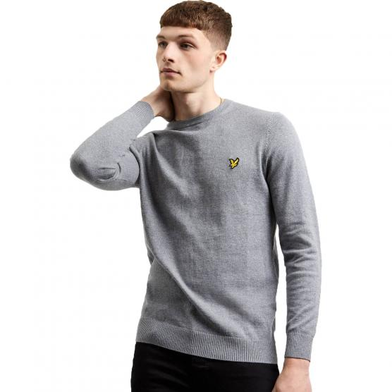 LYLE&SCOTT CREW NECK COTTON MERINO JUMPER