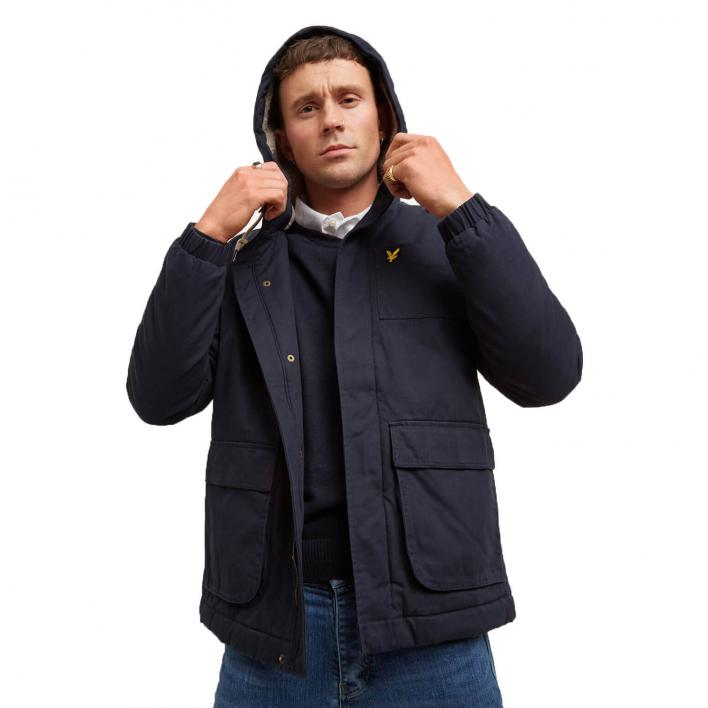 LYLE&SCOTT WADDED JACKET WITH FAUX SHEEPS