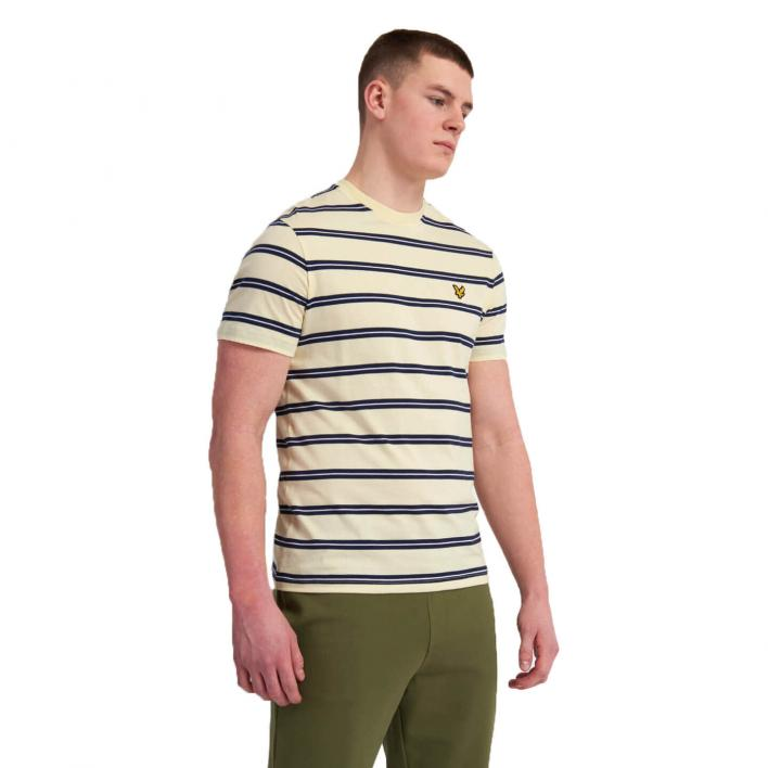 LYLE & SCOTT WIDE DOUBLE STRIPE T-SHIRT
