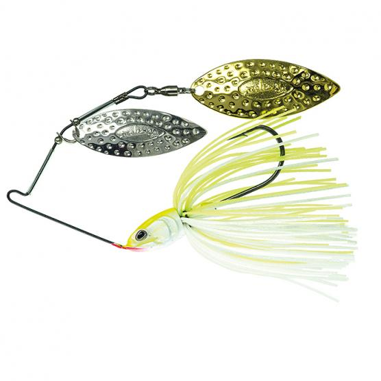 MOLIX LOVER TITANIUM SPINNERBAIT 1/2 OZ. WHITE CHARTREUSE
