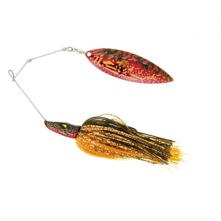 MOLIX PIKE SPINNERBAIT SW 1 OZ. COL. RED PIKE