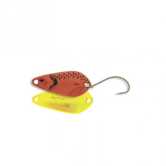 MOLIX TROUT SPOON 3.5 GR RED YELLOW