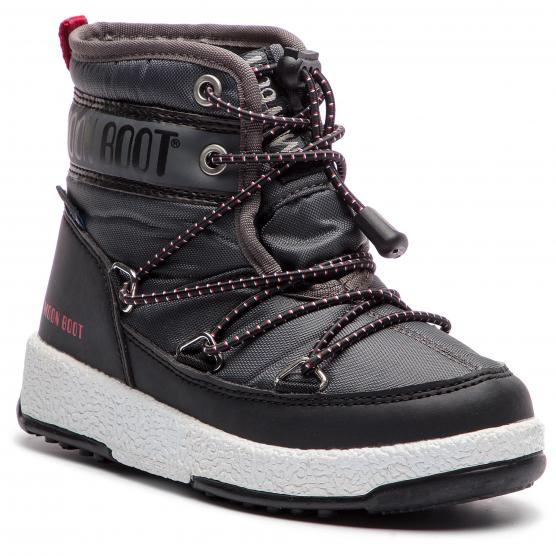 MOON BOOT W.E MID JR WP BLACK CASTLEROCK
