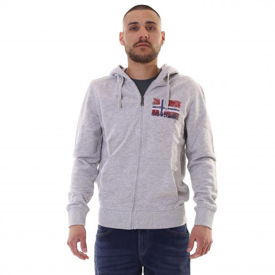 NAPAPIJRI BERCUS LIGHT GREY MEL FLEECE