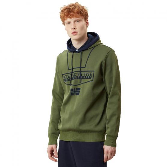 NAPAPIJRI BURGEE KNIT NEW OLIVE GREEN