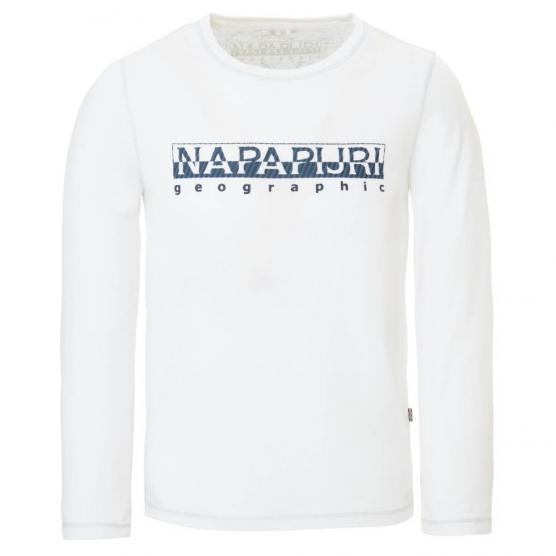 NAPAPIJRI K SION BRIGHT WHITE T-SHIRTS