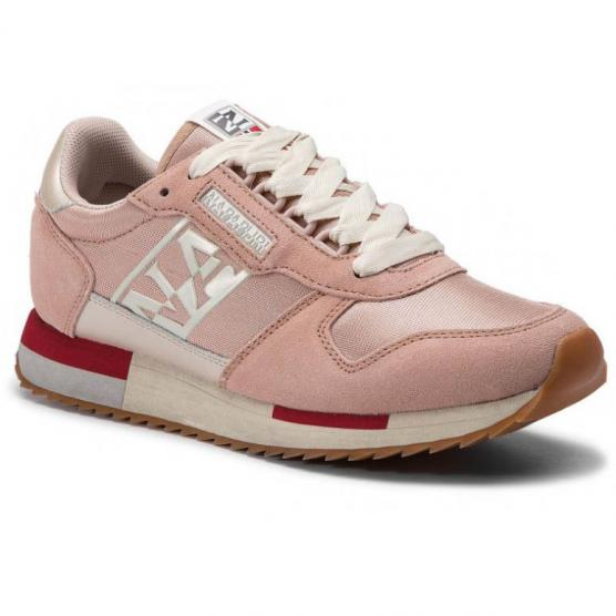 NAPAPIJRI WOMAN MESH/SUEDE PALE PINK NEW