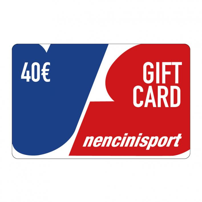 NENCINI SPORTS GIFT CARDS 40€