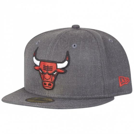 New Era 59Fifty Cap - NBA CHICAGO BULLS HEATHER FITTED