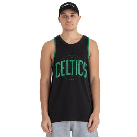 NEW ERA BOSTON CELTICS NBA DOUBLE LOGO TANK 001