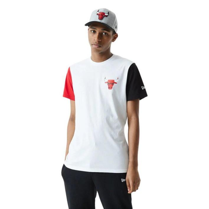 NEW ERA CHICAGO BULLS COLOR BLOCK TEE