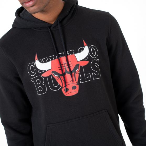 NEW ERA CHICAGO BULLS NBA GRAPHIC OVERLAP HOODY