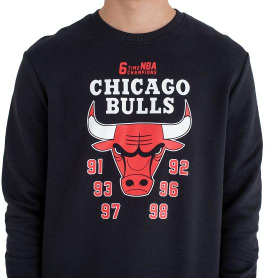 NEW ERA CHICAGO BULLS NBA TEAM CHAMPION CREW
