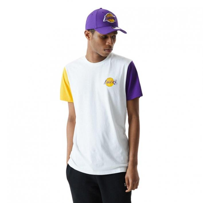 NEW ERA LOS ANGELES LAKERS COLOR BLOCK TEE