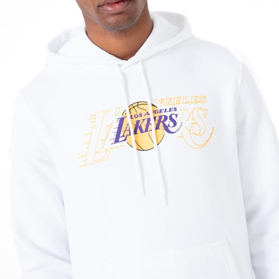 NEW ERA LOS ANGELES LAKERS NBA GRAP. OVERLAP HOODY