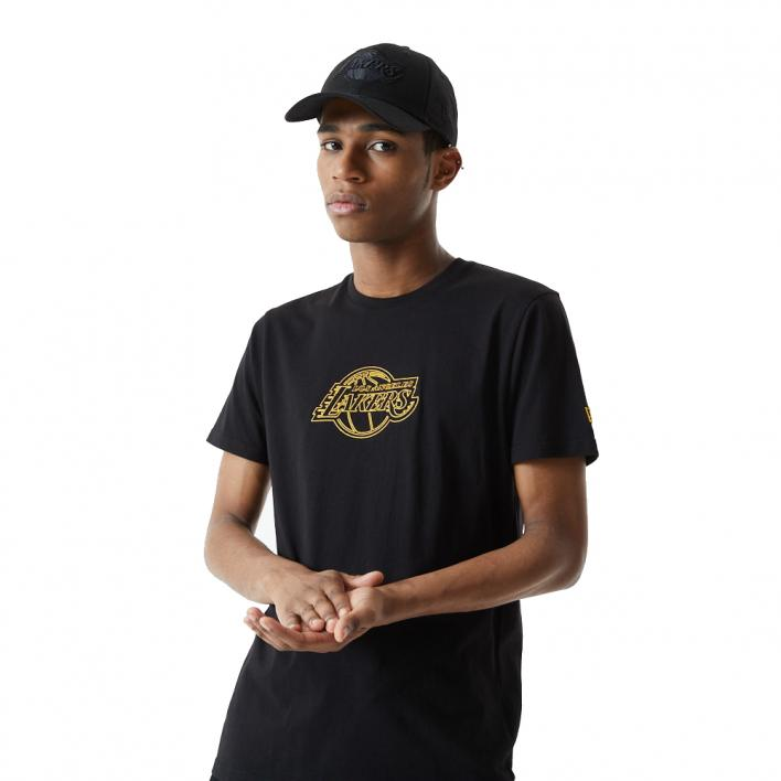 NEW ERA NBA CHAIN STITCH TEE LOS ANGELES LAKERS