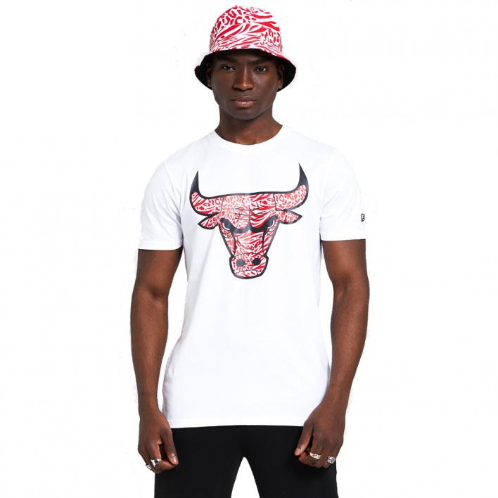 NEW ERA PRINT INFILL TEE CHICAGO BULLS