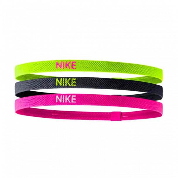 NIKE ELASTIC HAIRBANDS 3PK VT/BK/HP