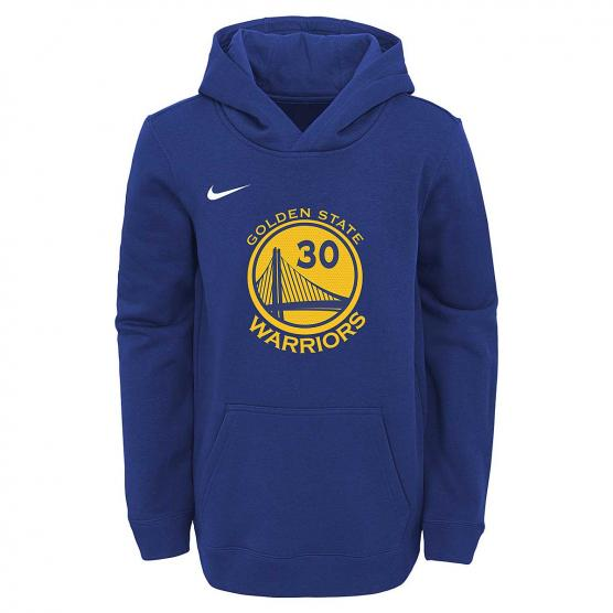 NIKE HOODIE PULL OVER NAME & NUMBER ESSENTIAL BOYS WARRIORS CURRY