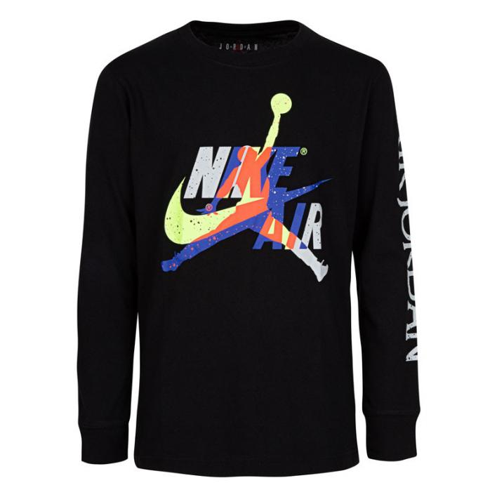 NIKE JORDAN JUMPMAN CLASSIC GRAPHIC TEE LS JUNIOR