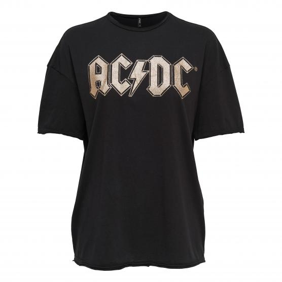 ONLY ACDC PRINTED S/S TOP BOX JRS