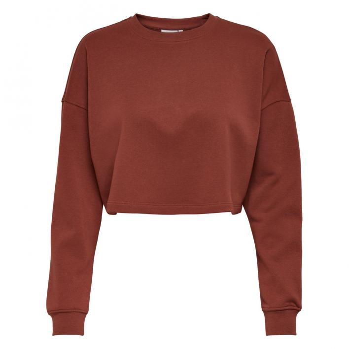 ONLY BLESS LIFE L/S O-NECK CROPPED CC SWT