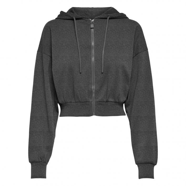 ONLY BLESS LIFE L/S ZIP HOOD CC SWT