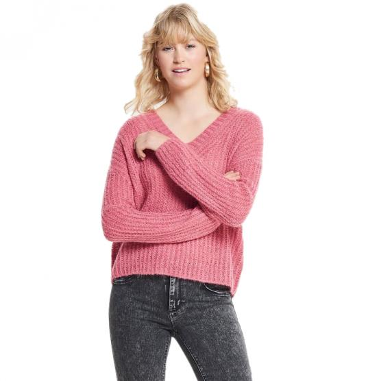 ONLY BLUEBELL L/S V-NECK PULLOVER KNT