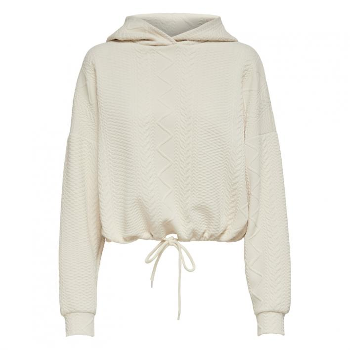 ONLY CABLE L/S HOOD SWT