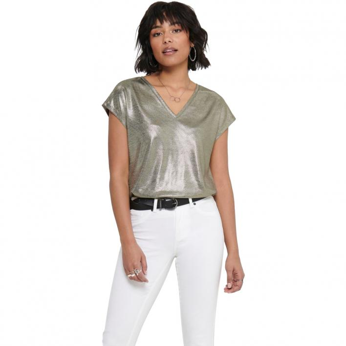 ONLY CAROL S/S V-NECK TOP JRS