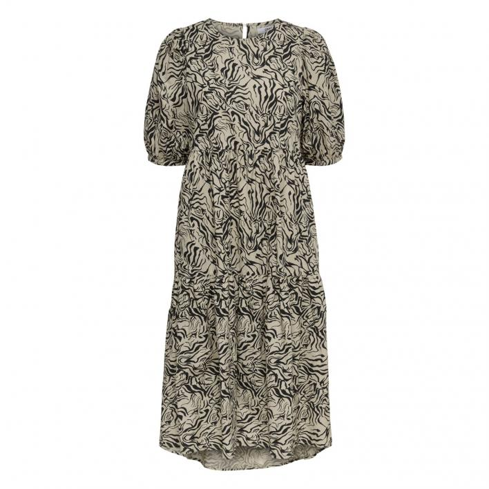 ONLY CRUSH S/S PUFF SLEEVE DRESS WVN