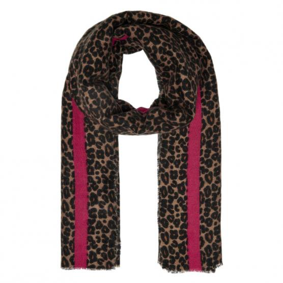 ONLY DIDDE LEOPARD  WOVEN SCARF