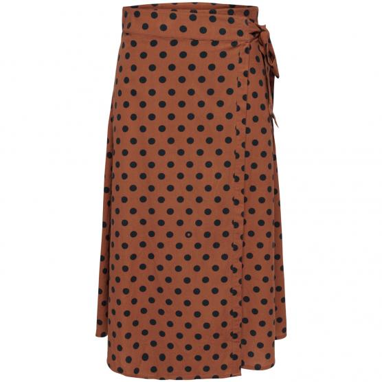 ONLY DOTTY MIDI SKIRT WVN