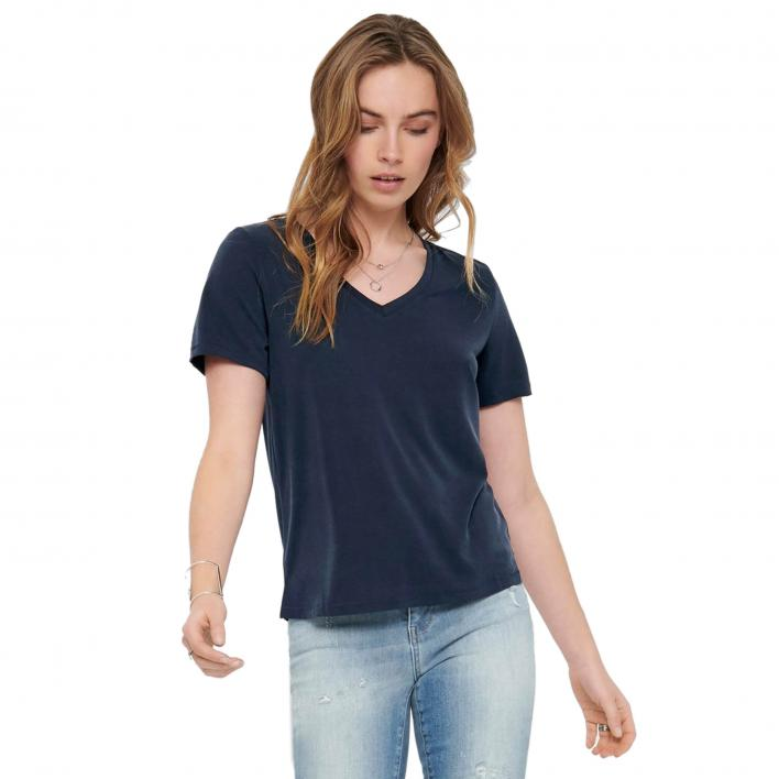 ONLY FREE LIFE S/S V-NECK TOP NOOS JRS