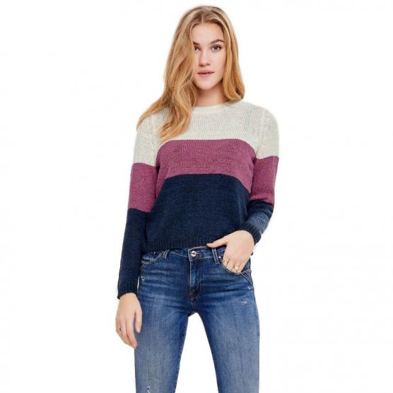 ONLY GEENA L/S BLOCK PULLOVER KNT NOOS
