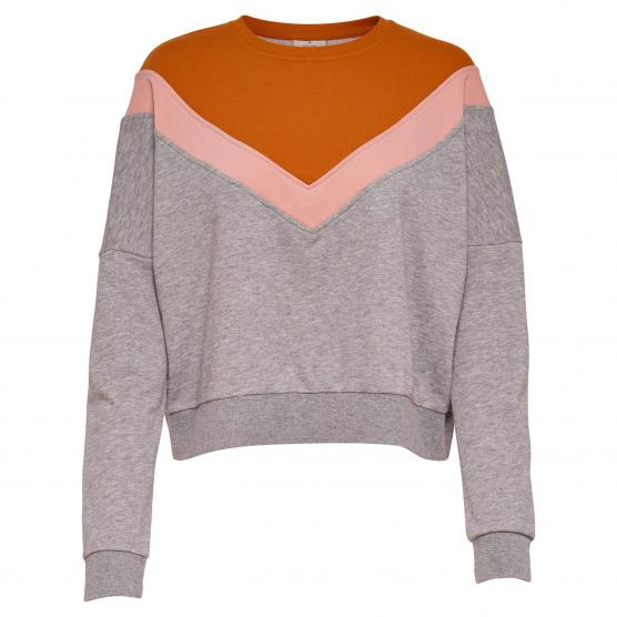 ONLY GIGI L/S BLOCK BATWING O-NECK SWT