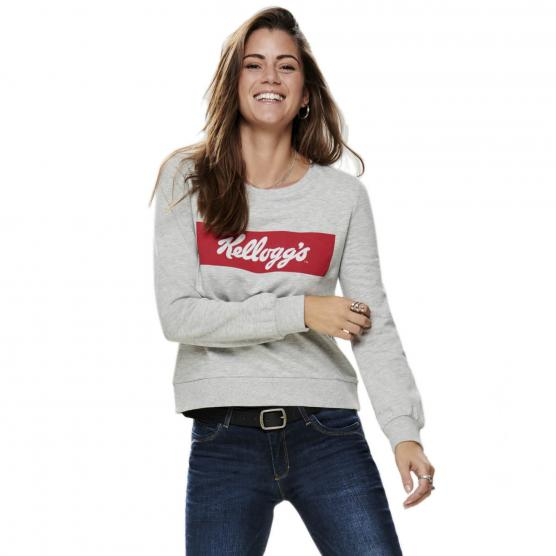ONLY KELLOGGS L/S PRINT TOP BOX SWT