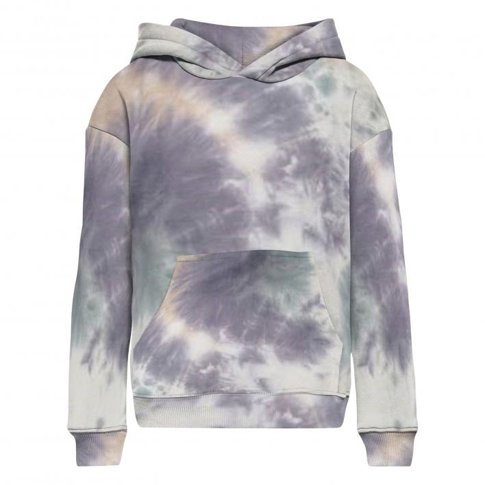 ONLY KIDS EVERY LIFE L/S TIE DYE HOODIE PNT